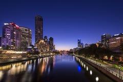 Vista della città di Melbourne Immagini Stock Libere da Diritti