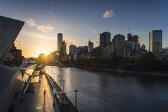 Vista della città di Melbourne Fotografia Stock