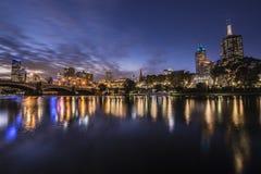Vista della città di Melbourne Immagine Stock