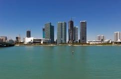 Vista della città di Miami Fotografie Stock
