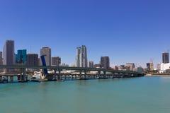 Vista della città di Miami Fotografia Stock Libera da Diritti