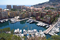 Vista della città di Monte Carlo Fotografie Stock