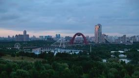 Vista della città di Mosca al tramonto video d archivio