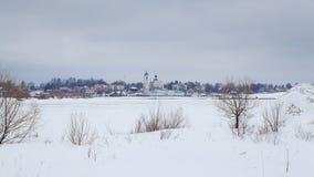 Vista della città di Myškin Immagine Stock