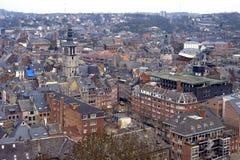 Vista della città di Namur concentrare storica, Belgio Fotografia Stock