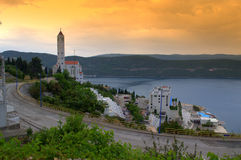 Vista della città di Neum Fotografia Stock