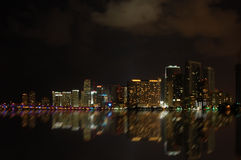 Vista della città di notte Immagine Stock Libera da Diritti