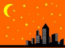 Vista della città di notte Fotografie Stock Libere da Diritti