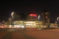Vista della città di notte di Rotterdam, Netherland fotografia stock