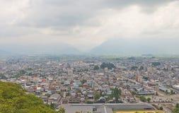 Vista della città di Ohno, prefettura di Fukui, Giappone Fotografie Stock
