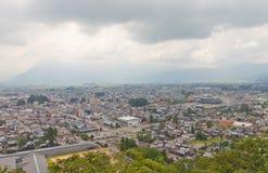 Vista della città di Ohno, prefettura di Fukui, Giappone Immagini Stock Libere da Diritti