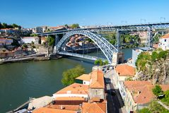 Vista della città di Oporto, Portogallo Immagini Stock Libere da Diritti