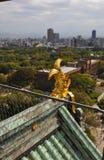 Vista della città di Osaka Fotografia Stock