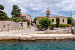 Vista della città di Ossero nell'isola di Cres Fotografia Stock
