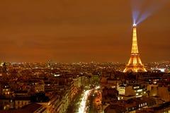 Vista della città di Parigi Fotografia Stock Libera da Diritti