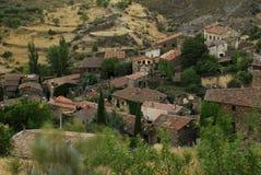 Vista della città di Patones de Arriba, Madrid, Spagna Fotografia Stock Libera da Diritti