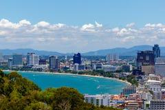 Vista della città di Pattaya Immagini Stock