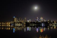 Vista della città di Perth da Burswood Immagini Stock