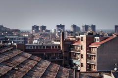 Vista della città di Pesaro Fotografia Stock Libera da Diritti