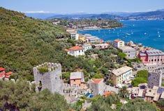 Vista della città di Portovenere (sito) dell'Unesco, Italia Fotografia Stock Libera da Diritti