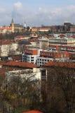 Vista della città di Praga fotografie stock libere da diritti