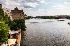 Vista della città di Praga in repubblica Ceca fotografie stock libere da diritti