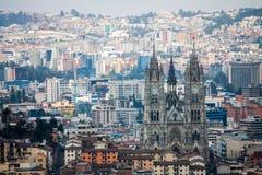 Vista della città di Quito Ecuador Fotografia Stock
