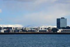 Vista della città di Reykjavik Islanda Immagine Stock