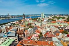 Vista della città di Riga fotografia stock