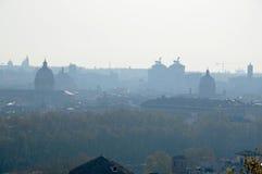 Vista della città di Roma di mattina Fotografie Stock
