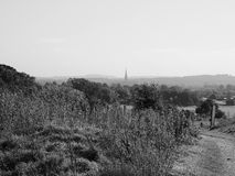 Vista della città di Salisbury in bianco e nero immagine stock libera da diritti