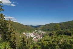 Vista della città di San Biagio Immagini Stock