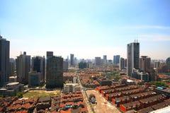 Vista della città di Schang-Hai immagine stock libera da diritti
