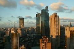 Vista della città di Schang-Hai fotografia stock libera da diritti