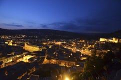 Vista della città di Scicli Fotografie Stock