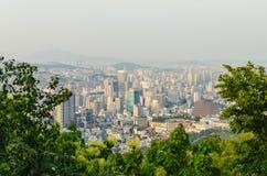 Vista della città di Seoul Fotografia Stock Libera da Diritti