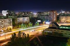 Vista della città di sera Fotografia Stock Libera da Diritti