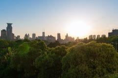 Vista della città di Shanghai Fotografia Stock Libera da Diritti