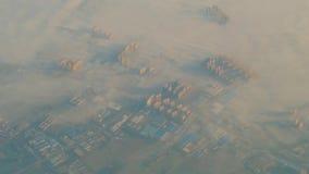 Vista della città di Shanghai dall'aeroplano archivi video