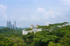 Vista della città di Singapore Fotografie Stock