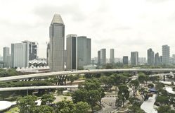 Vista della città di Singapore Immagini Stock Libere da Diritti