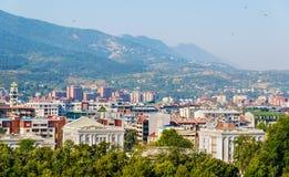 Vista della città di Skopje fotografia stock