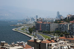 Vista della città di Smirne fotografia stock libera da diritti