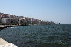 Vista della città di Smirne fotografia stock