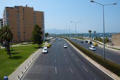 Vista della città di Smirne immagini stock