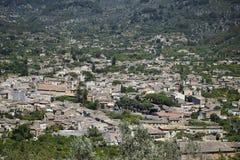 Vista della città di Soller Fotografia Stock
