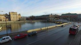 Vista della città di Stoccolma Città Vecchia, Svezia stock footage