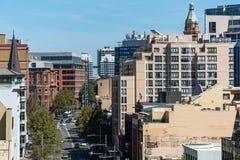 Vista della città di Sydney George Street da altezza Immagini Stock Libere da Diritti