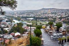 Vista della città di Tbilisi Fotografie Stock