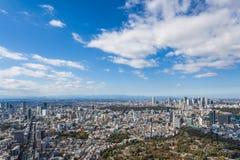 Vista della città di Tokyo Immagini Stock